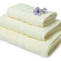 Handuk Mandi Polos Set 3pcs Natural-Broket White