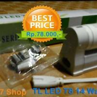 lampu led tube 14 watt + hosing TL LED