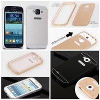 Samsung Galaxy Grand Duos Neo Plus Metal Bumper Back Cover Case Casing