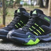 harga Sepatu Murah Adidas Terrex High +hitam Hijau Stabilo+ Tokopedia.com