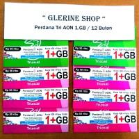 harga Kartu Perdana Internet Tri Three 3 Aon 1GB 1 GB Reguler 12 Bulan 1 Tokopedia.com