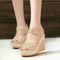 harga Sendal Sepatu Wedges Wanita (sendal Sepatu Cewek ) Tokopedia.com