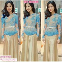 Baju NEW Kebaya Vera blue dress