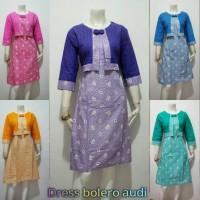 Batik Murah Wanita Dress Bolero Audi (Baju Batik, Blouse, Busana, Kemeja)