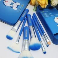 DORAEMON BRUSH KALENG 7 in 1 / make up brush / kuas doraemon