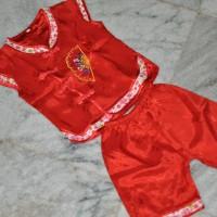Baju Cheongsam anak perempuan (atasan+bawahan celana)