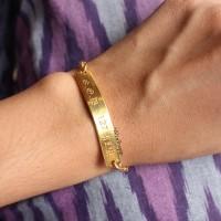 Gelang Nama Gold Plat / Perhiasan Lapis Emas