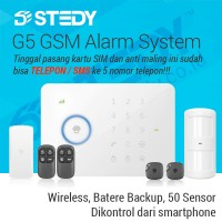 GSM Alarm System G5 - Anti Maling GSM yg Bisa Telepon / SMS