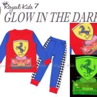 Piyama Anak Rk Ferrari Glow In The Dark ( Menyala Dalam Gelap )