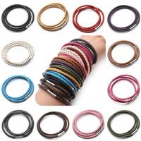 Real Braided Leather Steel Bracelet - Gelang Kulit Pria Wanita Bottega