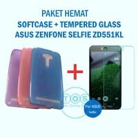 [PAKET] Zenfone SELFIE Softcase + Tempered Glass Asus Ultrathin 2
