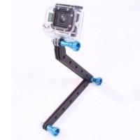 TMC CNC Aluminum Arms and Screw For GoPro & Xiaomi Yi - Blue