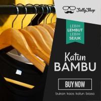 Jual Kaos Polos Katun Bambu (Cotton Bamboo T-Shirt) Murah