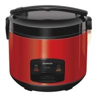 Sanken SJ-2800 Rice Cooker Stainless Steel - Merah