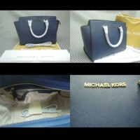 MICHAEL KORS SELMA NAVY LARGE