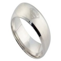 Stainless Steel Ring (Superman Logo)