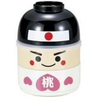 ORI JAPAN Kokeshi Bento Lunch Box Momotaro Box Hakoya Tempat makan