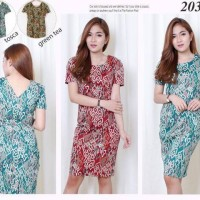 Jianghua Batik Bodycon Mini Dress