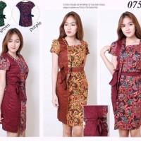 Vionna Batik Bodycon Mini Dress