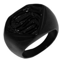 Cincin Superman Man Of Steel Logo Full Black Superman Ring