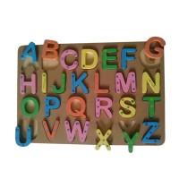 Puzzle Alfabet Giant~Mainan Kayu~Edukasi