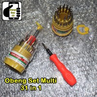 Obeng Set Multi 31 In 1 Obeng HP Multifungsi Screwdriver Handphone