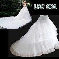 Jual Petticoat Wedding Ekor Panjang- Rok Tutu Dalaman Gaun Pengantin -LPC00 Murah