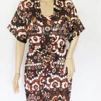 Baju Tidur Wanita Kimono Batik Kode BTK5013CokelatTua