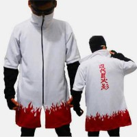 Jubah Hokage Yondaime Minato Putih Anime Naruto