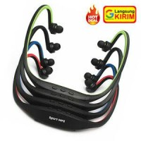 Sports Headset Dengan FM Radio Dan MicroSD Slot - TERBAIK
