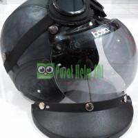 Helm Bogo Greyshade Hitam SNI - 4 in 1 - Bogo Path Goggle