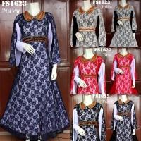 Baju Pesta Nagita Brokat FS1623 busana muslim gamis maxi dress wanita