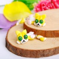 harga anting kucing kuning yellow cat handmade clay Tokopedia.com