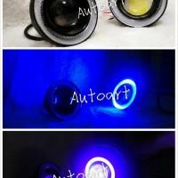 harga Led Foglamp Projector Angle Eyes  Biru 3,5inch Tokopedia.com