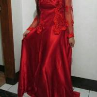 Gaun Semi Kebaya Merah