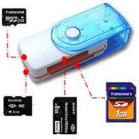 Card Reader usb All In One - 4 Slot Model Flashdisk Putar