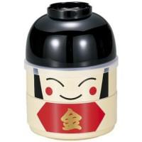 ORI JAPAN Kokeshi Bento Lunch Box Kintaro Box Hakoya Tempat makan anak