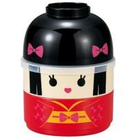 ORI JAPAN Kokeshi Bento Lunch Box HIME Box Hakoya Tempat makan anak