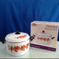 IDEAL Panci Oriental Stockpot Enamel 34 cm