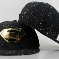 harga Topi Snapback Superman Hitam Gold  Metal Import Tokopedia.com