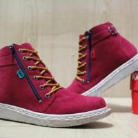Sepatu Murah Wanita Kickers Femme Resleting Grade Original# 155