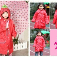 Raincoat Jas Hujan Anak Karakter Strawberry Stroberi