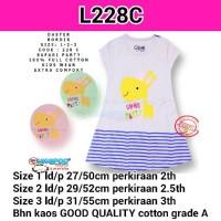 2-3 tahun L228C LEEVA, Daster/dress kaos anak
