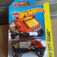 HW357 Hot Wheels 2015 HW Off-Road Jungle Rally-Aero Pod Dark Orange