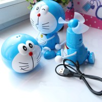 Gantungan Kipas Angin Mini Fan Karakter Doraemon Doremon Rechargeable