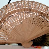 Kipas tangan ukir Bali Bambu ebony cendana kayu tari souvenir nari