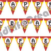 Flag Birthday /Bendera Ultah Foto /Perlengkapan Ultah
