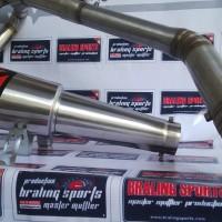 Knalpot Racing Akrapovic Garda Fulsystem Leheran Argon Cacing Ninja250