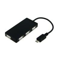 Micro USB 2.0 4 Ports OTG HUB - UHM-001