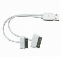 Dual Usb Charging and Sync For Iphone 4/4s